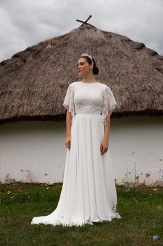 Folk Wedding Dresses- Your Perfect Modern Vintage by Daalarna, Tradition meets modernity, and old meets new in the FOLK bridal collection. White Wedding Dresses, Bridal Dresses, Wedding Gowns, Bridal Gown, Lace Wedding, Plus Size Brides, Plus Size Gowns, Bridal Looks, Bridal Style