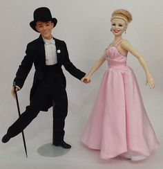 Fred Astaire and Ginger Rogers in THE BARKLEYS OF BROADWAY , 1949 - by World Dolls .