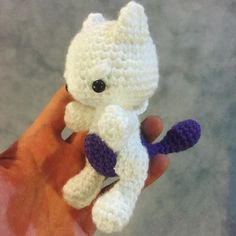 Baby Mewtwo strikes fear in your heart no? #nintendo #pokemoncrochet…