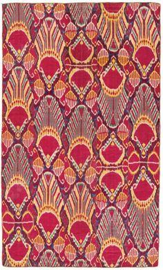 Ikat Panel, Central Asia, Uzbekistan, 19th century. Bruce Westcott.