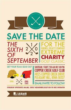 Charity Golf Save-the-Date, via Flickr. Unique save the date invitations for a golf outing. #golfinvite