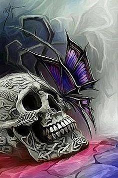 Butterfly on Skull.