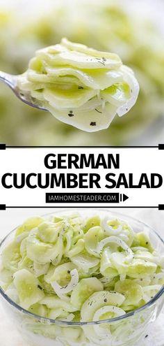 Cucumber Recipes, Summer Salad Recipes, Summer Salads, Vegetable Dishes, Vegetable Recipes, Vegetarian Recipes, Healthy Recipes, Appetizer Recipes, Dinner Recipes
