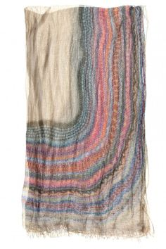 rainbow inspired, patterned scarf yy FALIERO SARTI. #print #scarf #accessories
