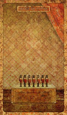 Seven of Wands - Tyldwick Tarot by Neil Lovell - If you love tarot, visit me at www.WhiteRabbitTarot.com