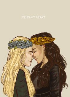 "clexa fanart: "" Flowers In Your Hair~*✲゚*✧~*✲゚*✧"""