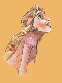 Another drawing of rapunzel