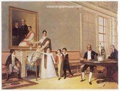 Domingos Sequeira Retrato da Família do 1º Visconde de Santarém - Domingos Sequeira painting, painting Authorized official website
