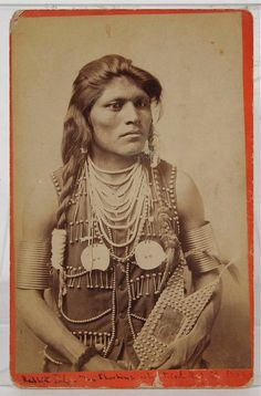 1880's NATIVE AMERICAN SHOSHONE INDIAN CABINET CARD PHOTO OF BRAVE RABBIT TAIL