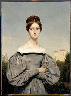 Horace Vernet Portrait of the artist's daughter Louise Vernet Oil on canvas Early 1830s