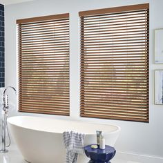 Faux wood blinds are constructed from low maintenance PVC, perfect for humid environments and resistant to warping or cracking. Features durable tilt and lift cords to operate your blind smoothly and with minimal noise. For best closure slats should be positioned downward.