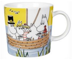 Moomin Mug Sail With Niblings and Too-Ticky - Tove Slotte-Elevant - Arabia… Moomin Shop, Moomin Mugs, Tove Jansson, Starbucks Mugs, Marimekko, Nordic Design, Scandinavian Design, Selling On Ebay, Flower Pots