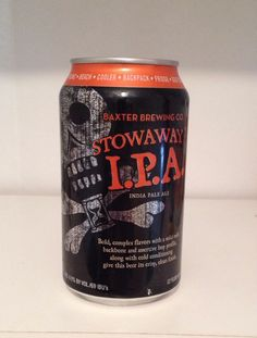 Baxter Brewing Stowaway IPA 12oz Micro Beer Can Lewiston, Me