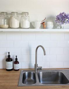 Subway tiles always make a great, timeless kitchen splash back