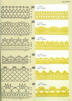 Crochet Ganchillo - Esquemas Patrones Diagramas