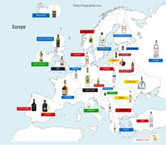 - Map of Europes National Liquors.