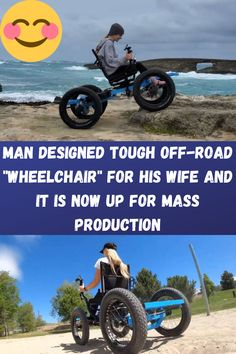 """Man Designed Tough Off-Road """"Wheelchair"""" For His Wife And It Is Now Up For Mass Production Cute Baby Cats, Baby Dogs, Swag Outfits, Girly Outfits, Amsterdam Wallpaper, Cute Formal Dresses, Futuristic Shoes, Mens Casual Suits, Ball Makeup"""