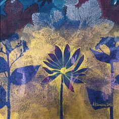 Herb Art, Using Acrylic Paint, Shades Of Gold, Star Flower, Frame Shop, Botanical Art, Landscape Art, Collage Art, Digital Prints