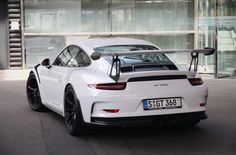 Porsche 991 GT3 RS painted in White   Photo taken by: @outpainted on Instagram