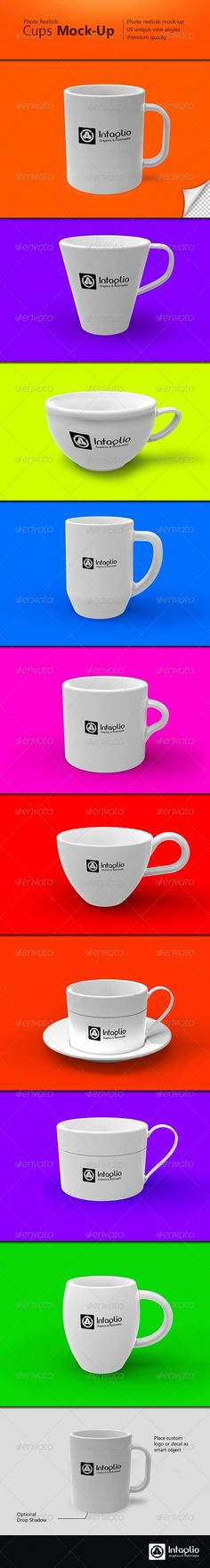 Photo-realistic Cups Mock-Up » Free Hero Graphic Design: Vectors AEP Projects PSD Sources Web Templates – HeroGFX.com