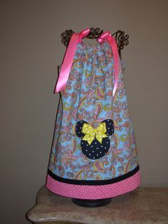 Minnie Mouse Pillowcase Dress Blue Paisley on Etsy.com  STLGIRL