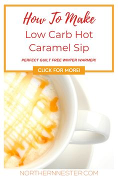 Enjoy a delicious winter warmer drink, totally guilt free! This low carb hot caramel sip is a fantastic way to satisfy yoursweet tooth without the added sugar! Quick and easy to make, this delicious low carb beverage tastes just like starbucks! #lowcarbcarameldrink #lowcarbcaramelhotsip #lowcarbcaramelrecipe Best Low Carb Recipes, Caramel Recipes, Low Carb Breakfast, Guilt Free, Starbucks, Beverage, Tooth, Dinner Recipes, Sugar