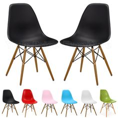 Set of 2 Eames Inspired ABS DSW Eiffel Side Dining Chairs £49.88