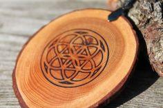 Holzanhänger - Seed of Life Amulett aus Zirbenholz - ein Designerstück von TirolZirbe bei DaWanda                                                                                                                                                                                 Mehr