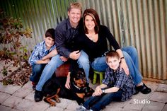 cute family picture with dog