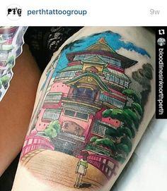 Amazing Spirited Away tattoo
