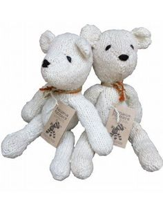 #fairtrade #handmade The perfect teddy bear friend for a small child.Every Kenana Knitters knitted teddy bear is unique and so very lovable.  They have a charm and a personality that cannot be found in mass produced toys and being made from wool they are warm and cuddly.