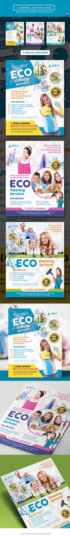 Cleaning Services #Flyer - Corporate Flyers Download here: https://graphicriver.net/item/cleaning-services-flyer/19585464?ref=alena994