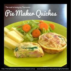 Recipe Pie Maker Quiches by theroadtolovingmythermomix, learn to make this recipe easily in your kitchen machine and discover other Thermomix recipes in Baking - savoury. Mini Pie Recipes, Quiche Recipes, Cooking Recipes, Free Recipes, Breville Pie Maker, Mini Pies, Mini Quiches, Boite A Lunch, Savory Snacks