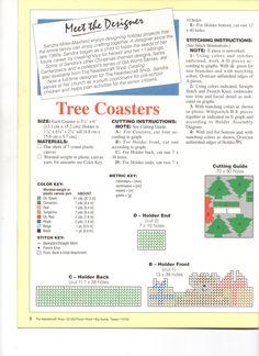 Christmas tree coasters 3/3