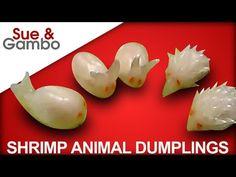 Learn How to Make darling shapes for Shrimp Dumplings / steam dumplings / dim sum recipe Shrimp Dumplings, Steamed Dumplings, Dumpling Recipe, Steamed Shrimp, Steamed Buns, Szechuan Green Beans, Quick Appetizers, Quick Snacks, How To Make Shrimp