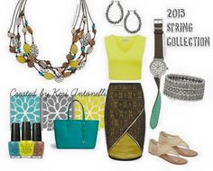 2015 Spring Collection #pdstyle featuring the Del Monte necklace