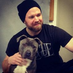 ryan hurst & a beautiful fur baby. i don't know which one is cuter! ha!