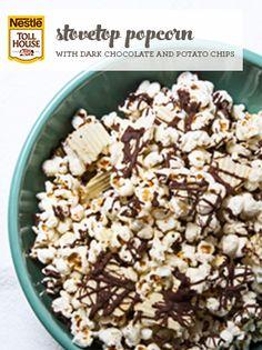 Stovetop Popcorn with Dark Chocolate & Potato Chips