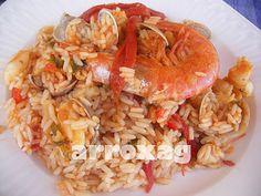 arroz con chirlas y sepia