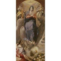 The Immaculate Conception El Greco (1541-1614Greek) Iglesia Santa Cruz Toledo Canvas Art - El Greco (18 x 24)