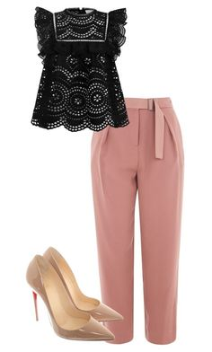 """Formals"" by stylewang on Polyvore featuring Topshop, Zimmermann and Christian Louboutin"