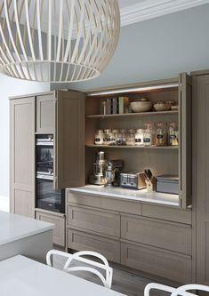 Esteem - Mowlem & Co bespoke and handmade kitchens Kitchen Pantry Design, Modern Kitchen Design, Home Decor Kitchen, Interior Design Kitchen, Kitchen Living, Kitchen Furniture, New Kitchen, Home Kitchens, Kitchen Ideas