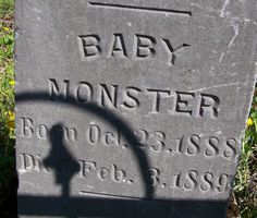 Baby Monster Tombstone