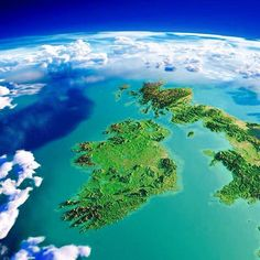 CG data used to show the island of Ireland (Eire). Satellite Photos Of Earth, Geography Map, Uk History, Space Planets, Earth From Space, Earth Science, Planet Earth, Nature Photos, Geology