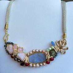 Handmade #pgaccesorios #byme #necklace #chapadeoro #piedrasnaturales