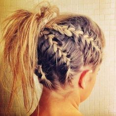Multi French braid ponytail