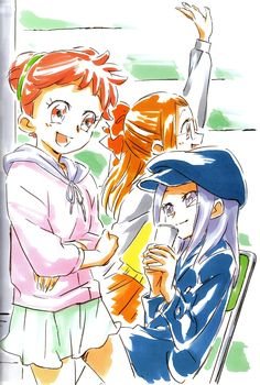 Ojamajo Doremi 16 ~ Umakoshi Yoshihiko Illustrations - Doremi & Onpu