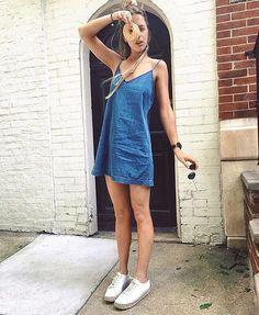 DJ + donut aficionado Pamela Katz in the Vivienne dress. ❤️