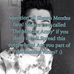 Does it sound good? He does call us his army :)>> I'm with you guys!! I LOVE YOU SHAWN!