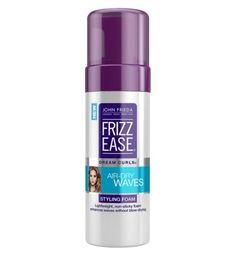 Dream Curls® Air-Dry Waves Styling Foam from the John Frieda® Hair Care experts Best Drugstore Products, Beauty Products, Hair Products, 2015 Hairstyles, Cool Hairstyles, Hairdos, Scrunched Hair, Air Dry Hair, Beauty Awards